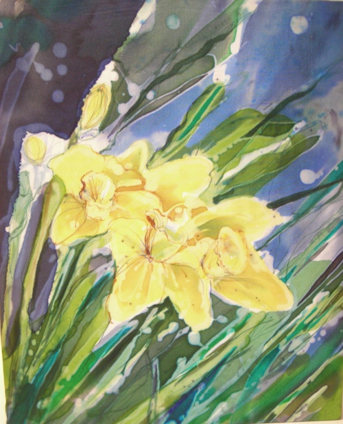 Daffodils in Moonlight