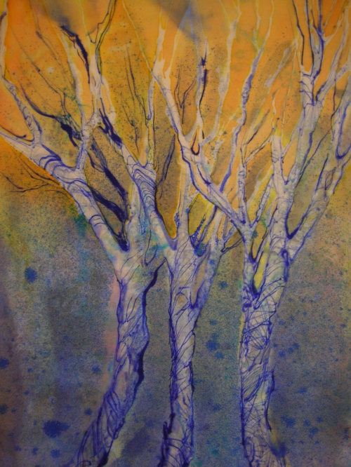 Winter Tree Series- Orange Sky