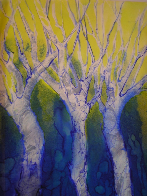 Winter Tree Series- Yellow Sky