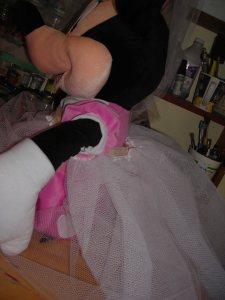 Minnie's bustle under creation